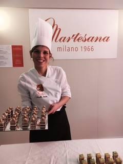 La pastry chef Marcella Moutte