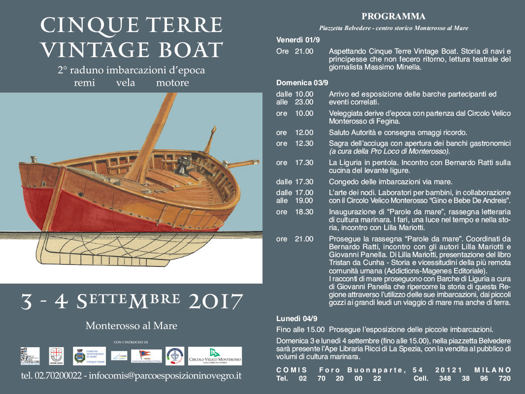 Cinque Terre Vintage Boat 2017 - Il programma
